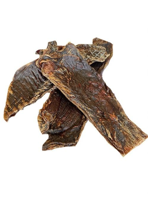 Photograph of Drool Pet Co. Kangaroo Jerky on a white background.