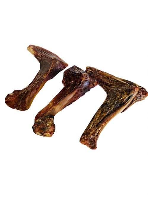 Photograph of a Drool Pet Co. dehydrated Kangaroo wings on a white background.