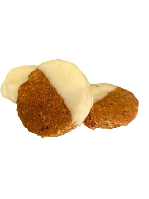 Photograph of a Drool Pet Co. Steak and Kidney Biscuits on a white background.